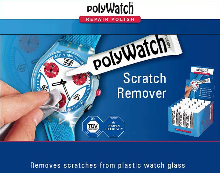 Germany PolyWatch Scratch Remover Paste 5g Removing Slight Scratch Cream For Repair Acrylic Plastic Watch Face Such as Swatch