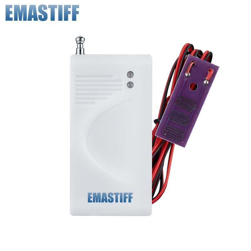 free shipping  1 Pcs/Lot Wireless Water Intrusion Leakage Sensor 433MHz Water Leakage Sensor Just For Our GSM PSTN Alarm System