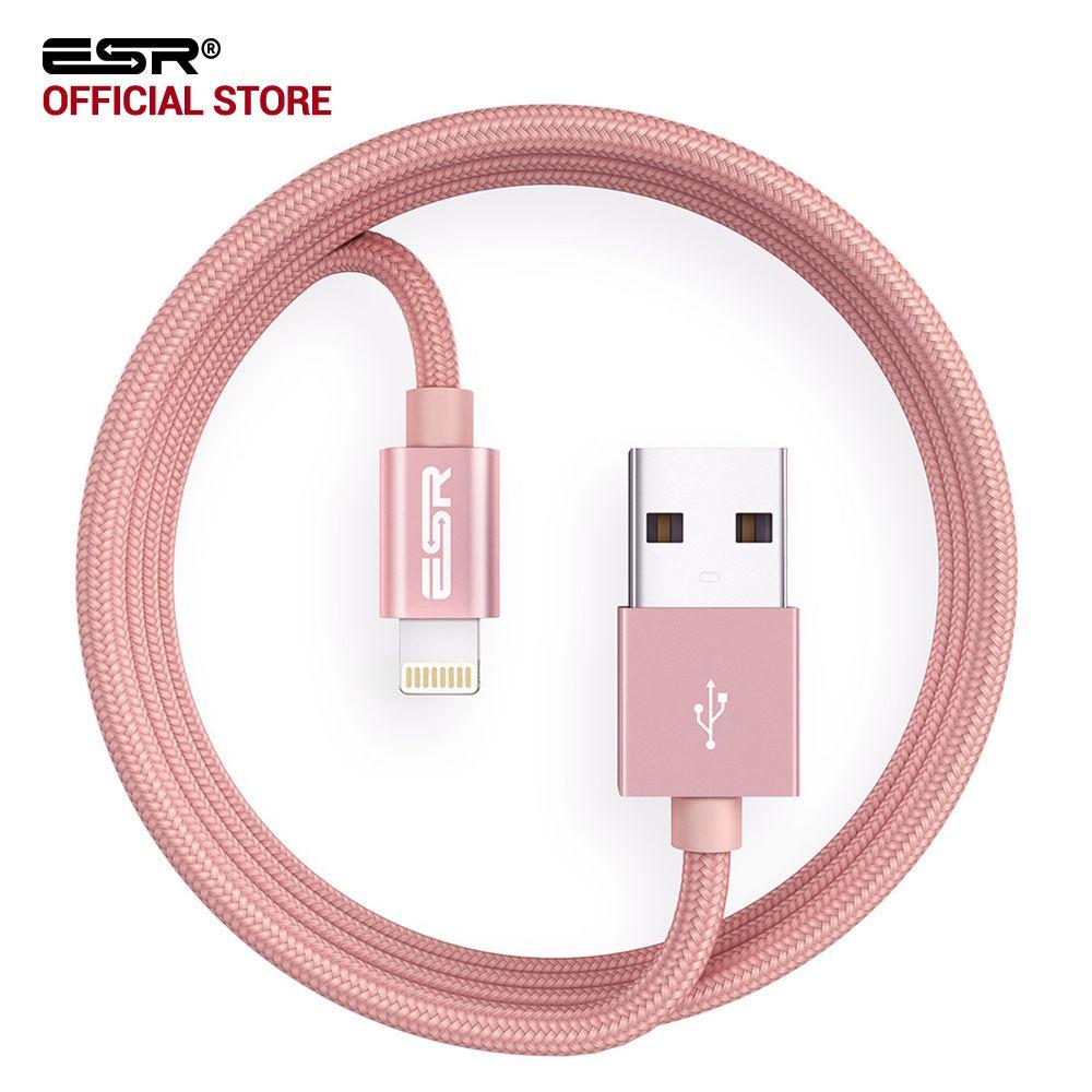 ESR MFI Certifié 8 Broches 2 M 6.6ft Rapide De Charge Éclairage USB Câble de Données pour iPhone 7 6 s 6 Plus 5S SE pour New iPad 2017 Air mini