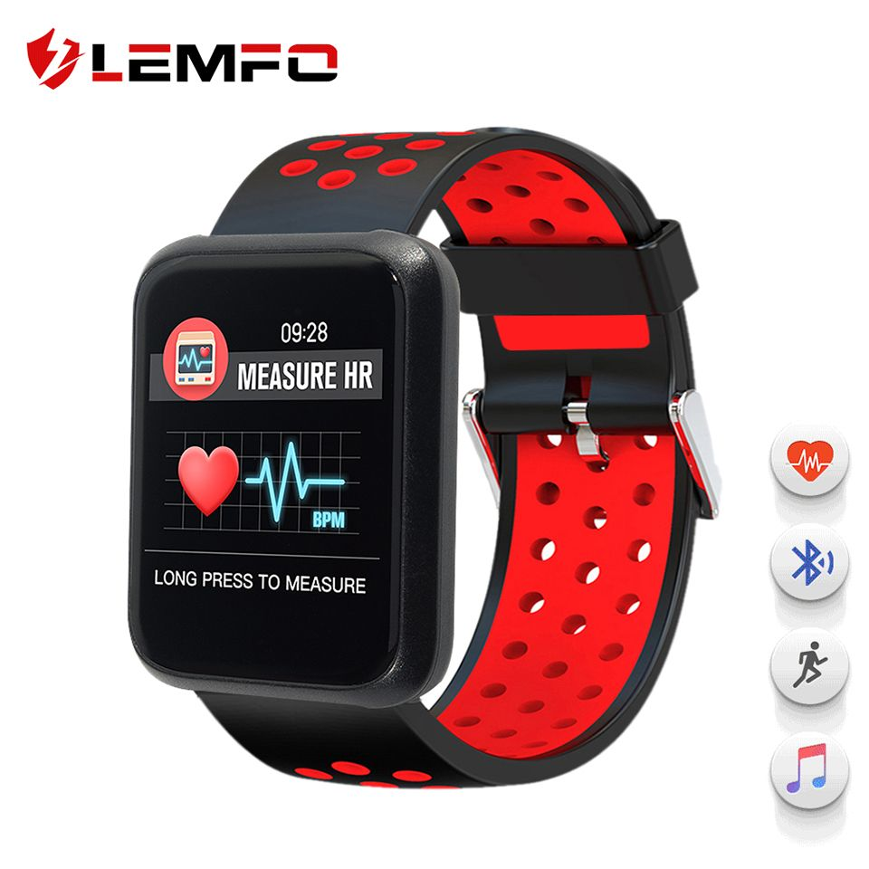 LEMFO New Smart Watch sport3 Fitness Tracker Heart Rate Blood Pressure Monitoring IP67 Waterproof BT4.1 Smartwatch