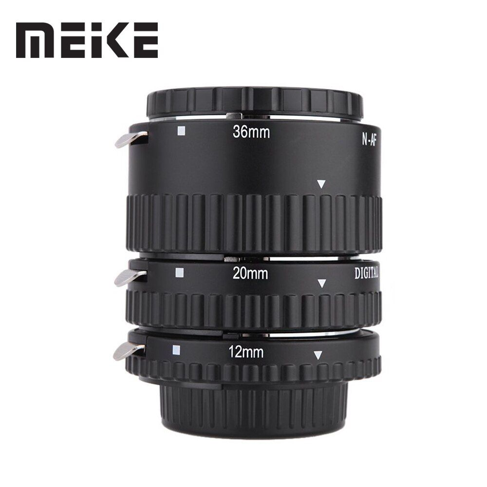Meike Auto Focus Macro Extension Tube Set Ring N-AF1-B for Nikon D7100 D7000 <font><b>D5100</b></font> D5300 D3100 D800 D600 D300s D300 D90 D80