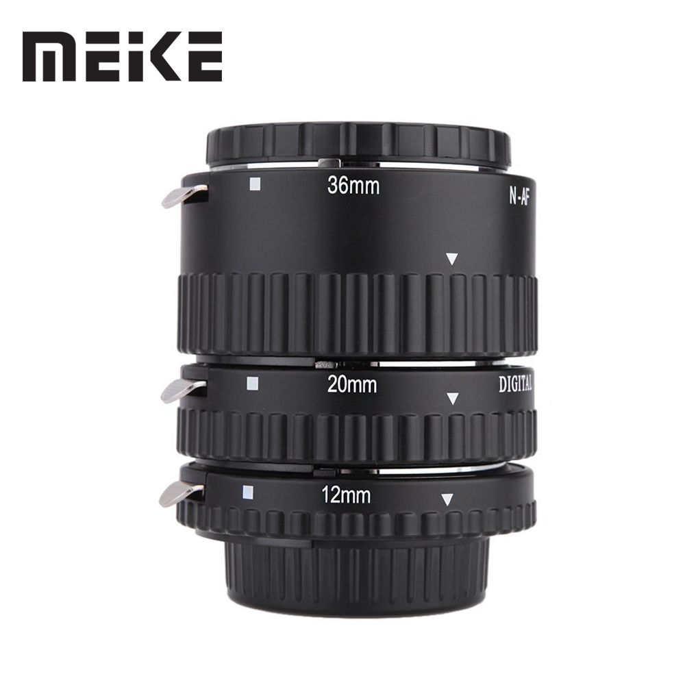 Meike Auto Focus Macro Extension Tube Set Ring N-AF1-B for Nikon D7100 D7000 D5100 D5300 D3100 D800 D600 D300s D300 D90 D80