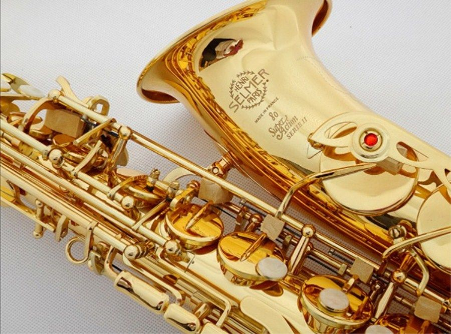 Sales New Golden Saxophone Alto instrument France SAS-802 Eb tune High quality instrument Saxophone of Accessories Free delivery
