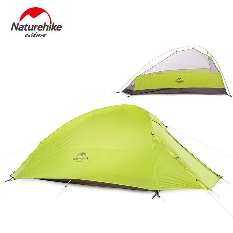 Nature randonnée 1 personne tente Double couche tente Camping 4 saisons étanche tente extérieure équipement de survie NH15T001-T