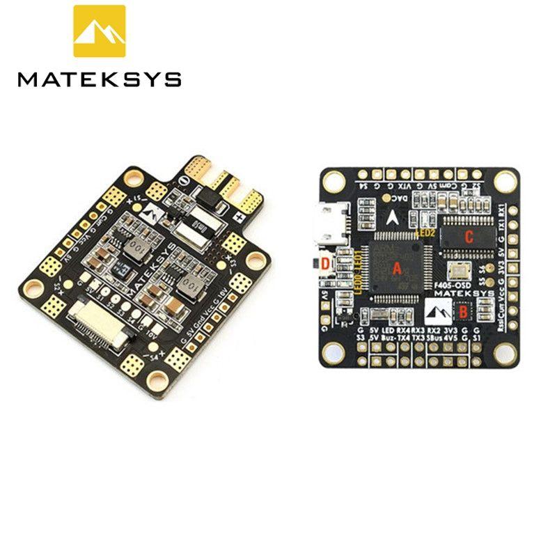 Matek F405-OSD BetaFlight STM32F405 Flight Controller + Matek FCHUB-6S Hub Power Distribution Board PDB for RC Racing Drone