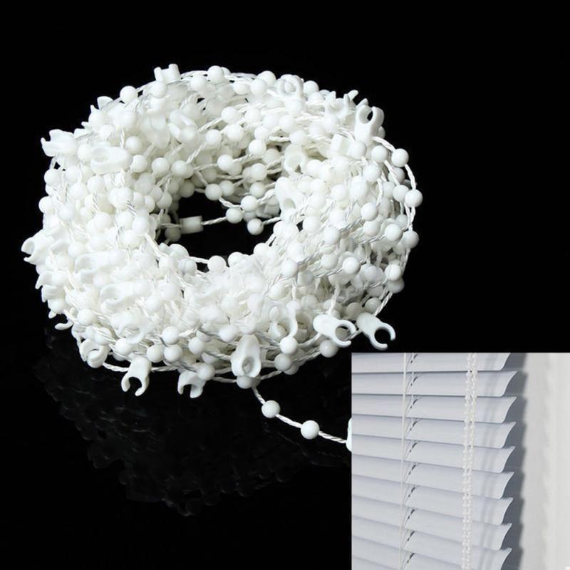 10 M Hause Fenster Zubehör Weiß Vertikale Blind Boden Link Bead Kette Teile bad schlafzimmer Ersatzteile Jalousien Römischen Schatten Shutter