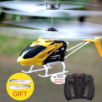 Syma Officielles W25 RC Hélicoptère 2 CH 2 Canal Mini RC Drone Avec Gyro Résistant Aux Crash RC Jouets Pour Garçon enfants Cadeau Rouge Jaune
