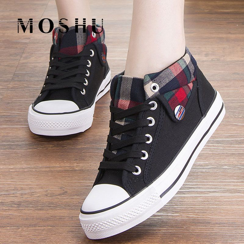Fashion Sneakers Women Casual Shoes Female Sneakers Summer Vulcanize Shoes Woman Lace-Up Trainers 2019 Zapatos De Mujer
