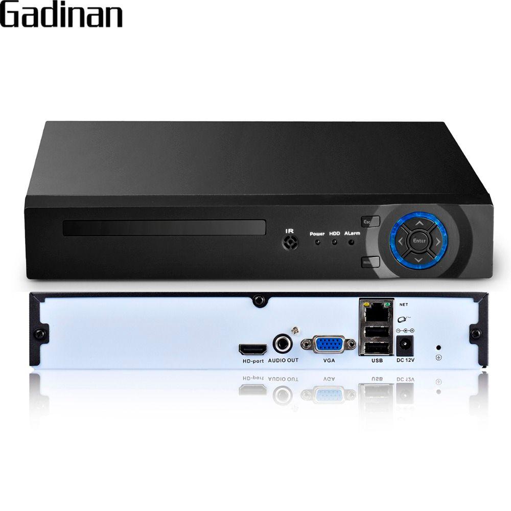 GADINAN 16 Kanal 5MP CCTV NVR Hi3536D XMEYE H.265 P2P HDMI Vga-ausgang P2P Netzwerk Sicherheit CCTV Video Recorder Unterstützung 3G WIFI