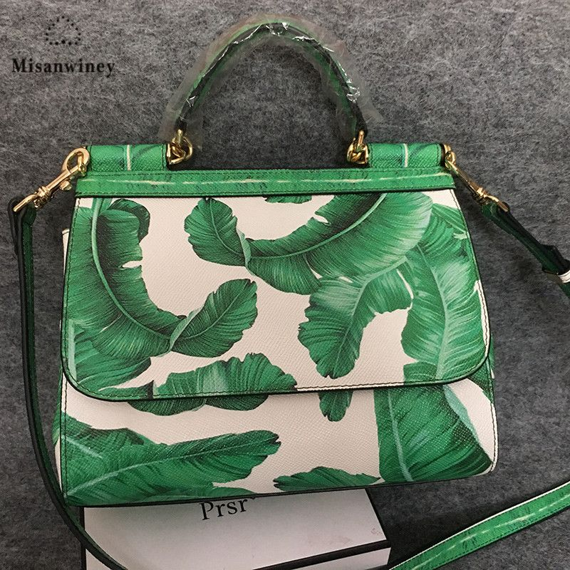 Misanwiney 2018 shoulder hand bag leather diagonal minimalist fashion leisure bag solid palm print