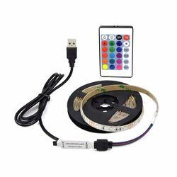 USB Alimenté DC 5 V LED lumière de Bande 2835 RGB/Blanc/Chaud blanc Étanche Bande LED Lampe 1 M 2 M 3 M 4 M 5 M TV Fond éclairage
