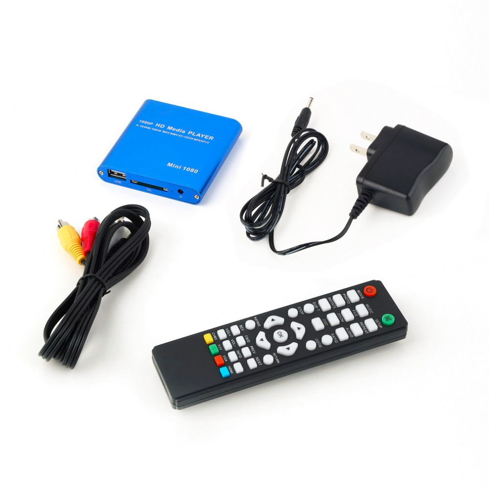 One 1080P HDD Muti-function Media RMV MP4 AVI FLV Player MKV/H.264/RMVB Full HD With HOST USB Card Reader dropshipping
