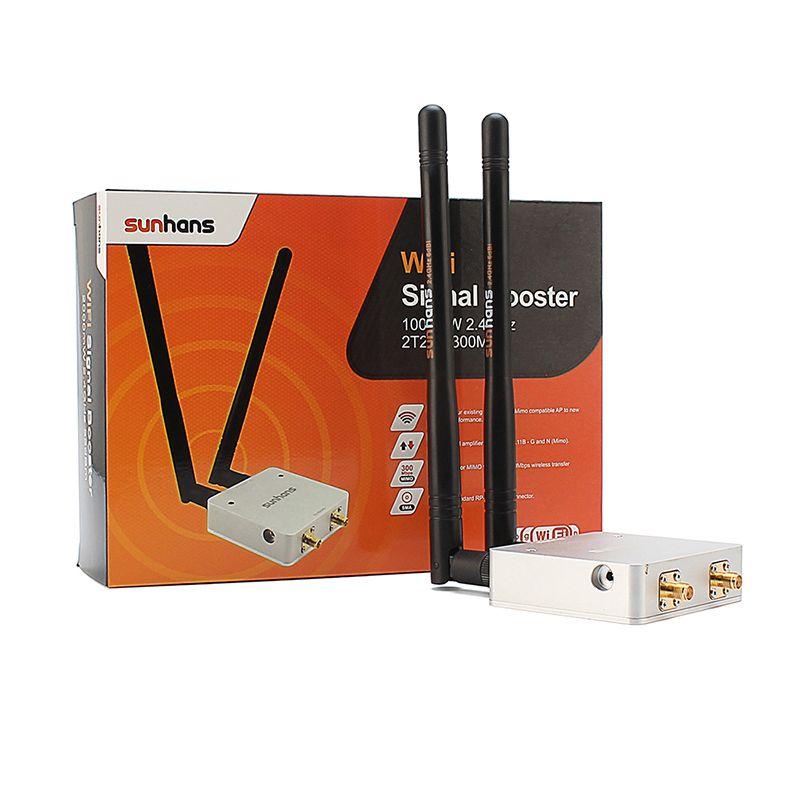 2014 Nouveaux SUNHANS 802.11N MIMO 2T2R 300 M Sans Fil Amplificateurs 1000 mW 2.4 GHz Intérieure Signal Booster Répéteur CE et ROHS Livraison Gratuite
