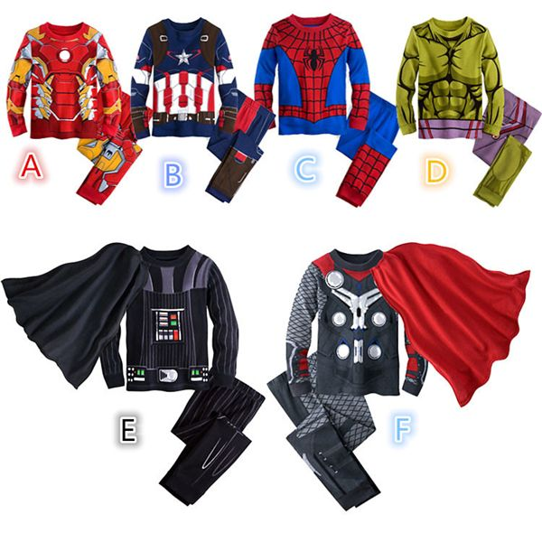 Enfants Captain America Hulk super-héros SpiderMan Avengers Costume Star war Fantasy film déguisement Cosplay vêtements