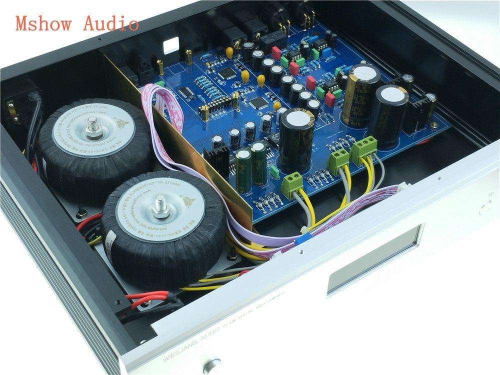 Fertig AK4497 AK4497EQ DUAL DAC DSD HIFI AUDIO digital zu analog audio konverter xmos XU208 oder Amanero USB für power verstärker