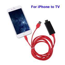 Kebidu Cable HDMI para el relámpago al adaptador Micro del USB AV HD TV Video Converter para iPhone 8X7 6 s 6 5 iPad teléfono Android S8