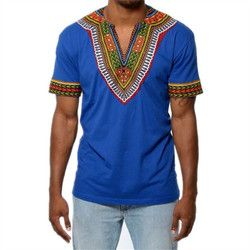 H & D Afrique vêtements Africaine Dashiki Traditionnel Dashiki Maxi Homme Chemise Chemise Maxi T-shirt D'été Homme Vêtements Homme T-shirt