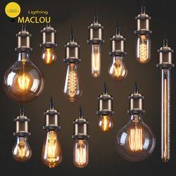 Edison Lâmpada e27 Lâmpada Retro ST64 MACLOU G80 G95 Vintage Lâmpada Incandescente 220 v Luzes Do Feriado 40 w Lâmpada de Filamento lampada HomeDecor