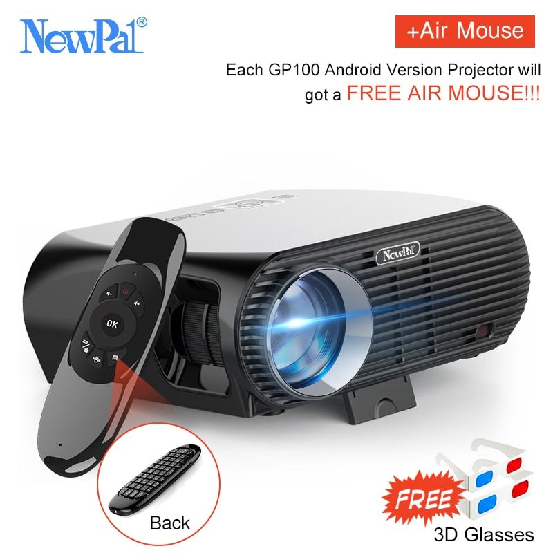 Newpal 3500Lumens LED Projector GP100 UP Full HD WiFi Android 4K Projector 3D Wireless Video Proyectors with free 3D <font><b>Glasses</b></font>