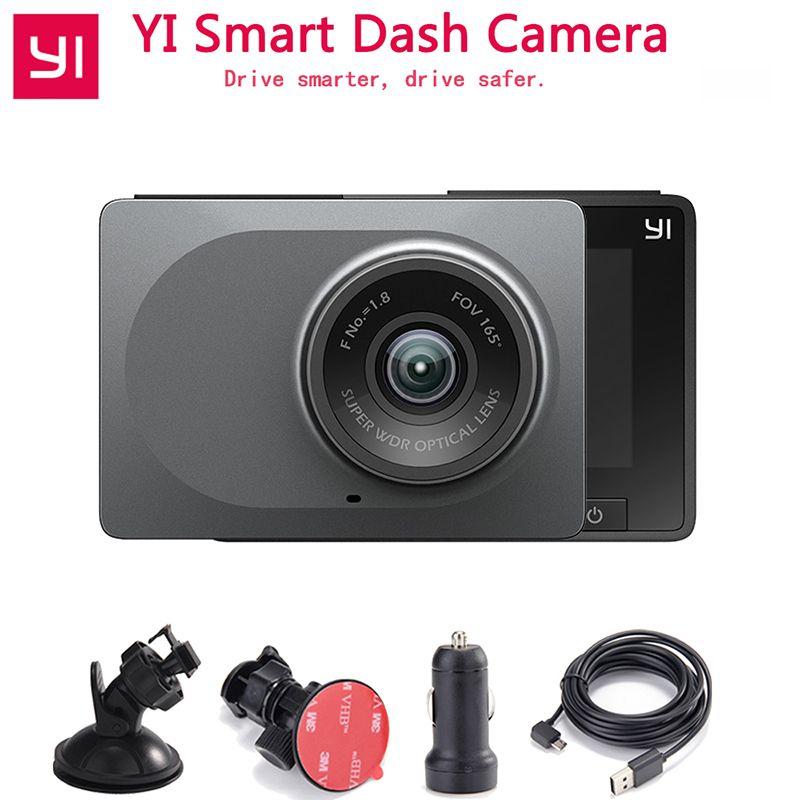 [Édition internationale] Xiaomi YI voiture intelligente DVR Vision nocturne 2.7 165 degrés 1080P 60fps détecteur de voiture ADAS rappel sûr Dashcam