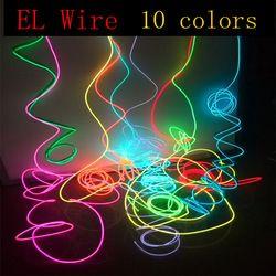1 M/2 M/3 M/5 M/10 M Neon Light Dance Party Decor Lumière néon LED lampe Flexible EL Tube de Câble Métallique Étanche LED Bande