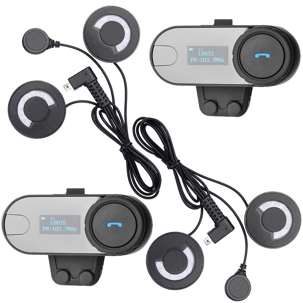 Freedconn бренд, ЖК-дисплей Экран! С FM Радио! 2 шт. BT переговорные Bluetooth Мотоциклетный Шлемы-гарнитуры домофон с мягкие наушники