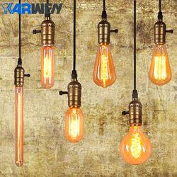 KARWEN Edison Ampoule E27 220 v Lampe À Incandescence 40 W Lampe Vintage Pendentif Lumière Rétro Éclairage Plafond lampadas Filament Ampoule
