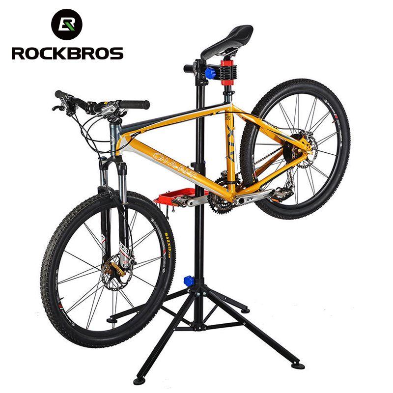 ROCKBROS 100-164 cm Einstellbar Fahrrad Boden Reparatur Stand Tragbare Aluminium Legierung MTB Fahrrad Radfahren Rack Halter Wartung Werkzeuge