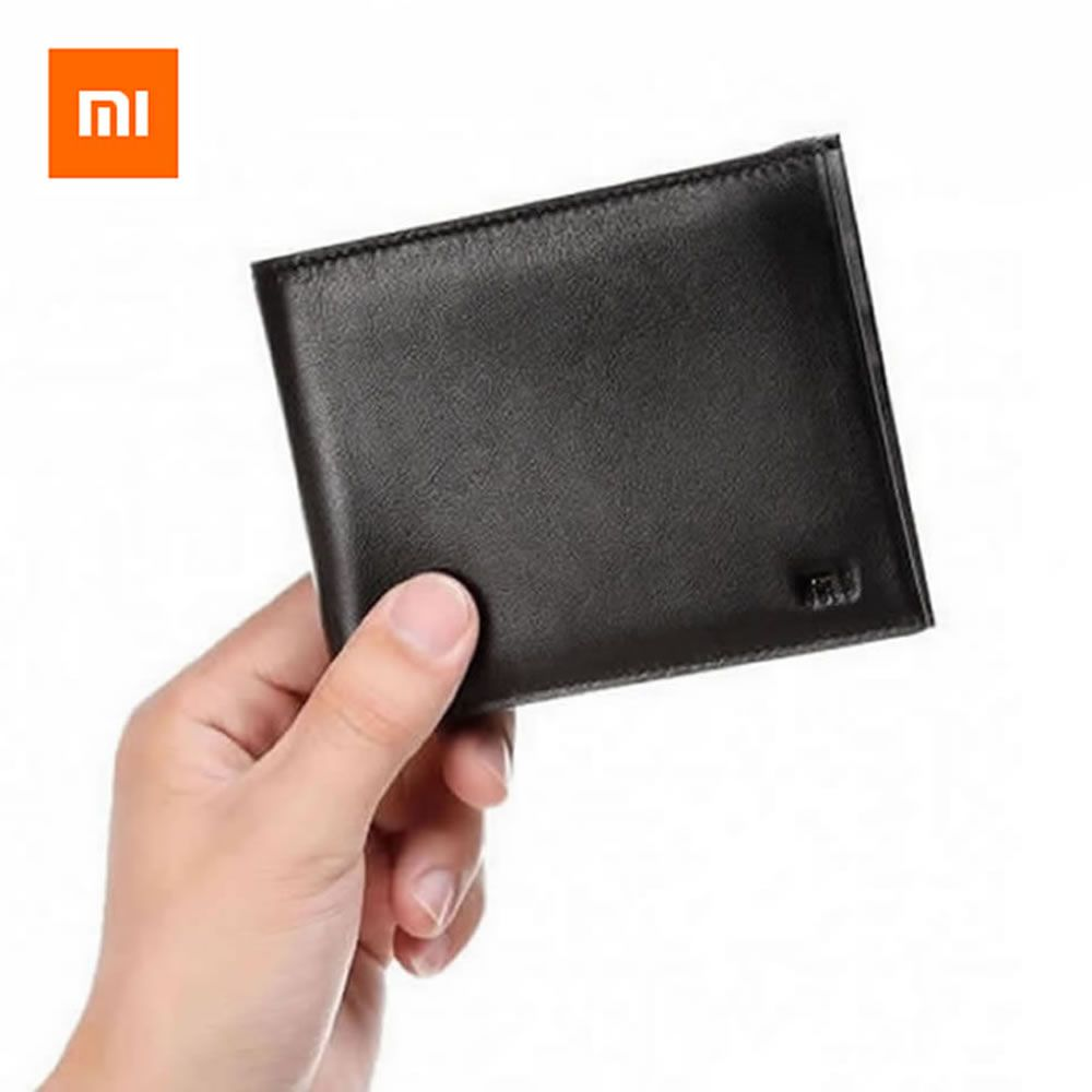 Original Xiaomi Wallets 90 Points Full Leather Men Wallets Stylish Black Soft Purse Card Holder Pocket Money For Credit Card ID