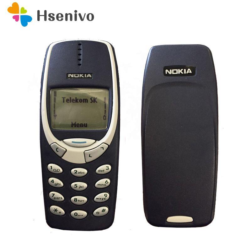 Remise à neuf D'origine Nokia 3310 pas cher téléphone débloqué GSM 900/1800 avec russe et Arabe clavier multi langue 1 année garantie