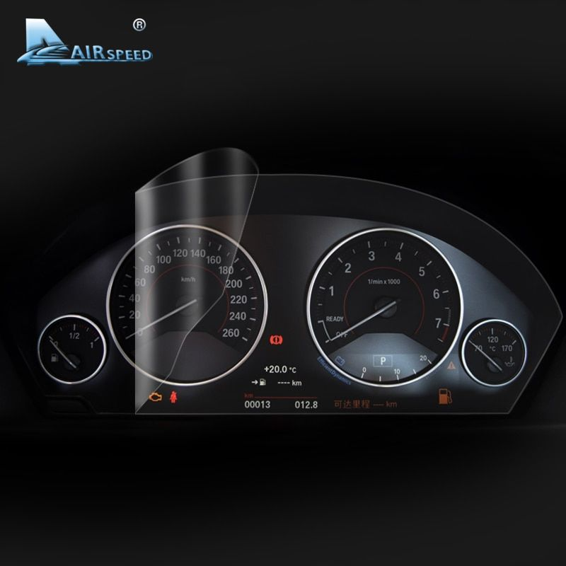 Airspeed Car Dashboard Instrument Panel Screen Protective Film for BMW F30 F34 3GT F10 F07 G38 G30 F25 F26 F15 F16 Car Styling