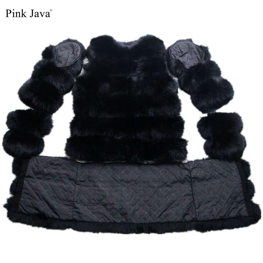 Розовый java qc8086 Бесплатная доставка Новинка 2017 модель натуральным лисьим пальто с мехом изменяемый пальто с мехом жилет длинный Съемный рук...