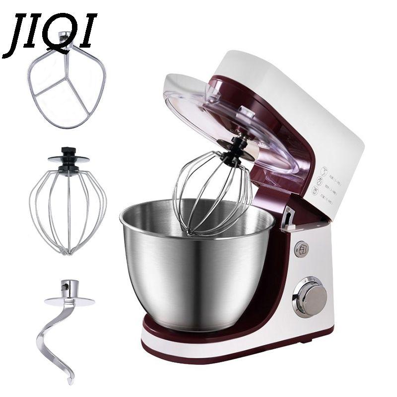 JIQI Elektrische Elektrische Brot Stehen Teig Mixer Creme Ei Schneebesen Mixer Chef Kneten Maschine Commercal Lebensmittel Milchshake Beater EU