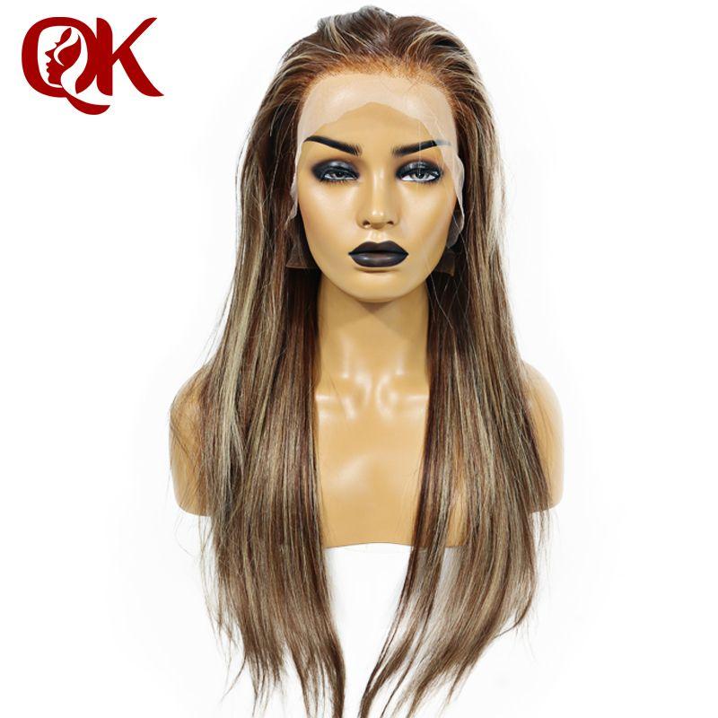 QueenKing haar Voll Brasilianischen Remy menschenhaar Spitze Perücke 150% Dichte CAMI Farbe T4/4/24 Ombre Farbe perücken für frauen