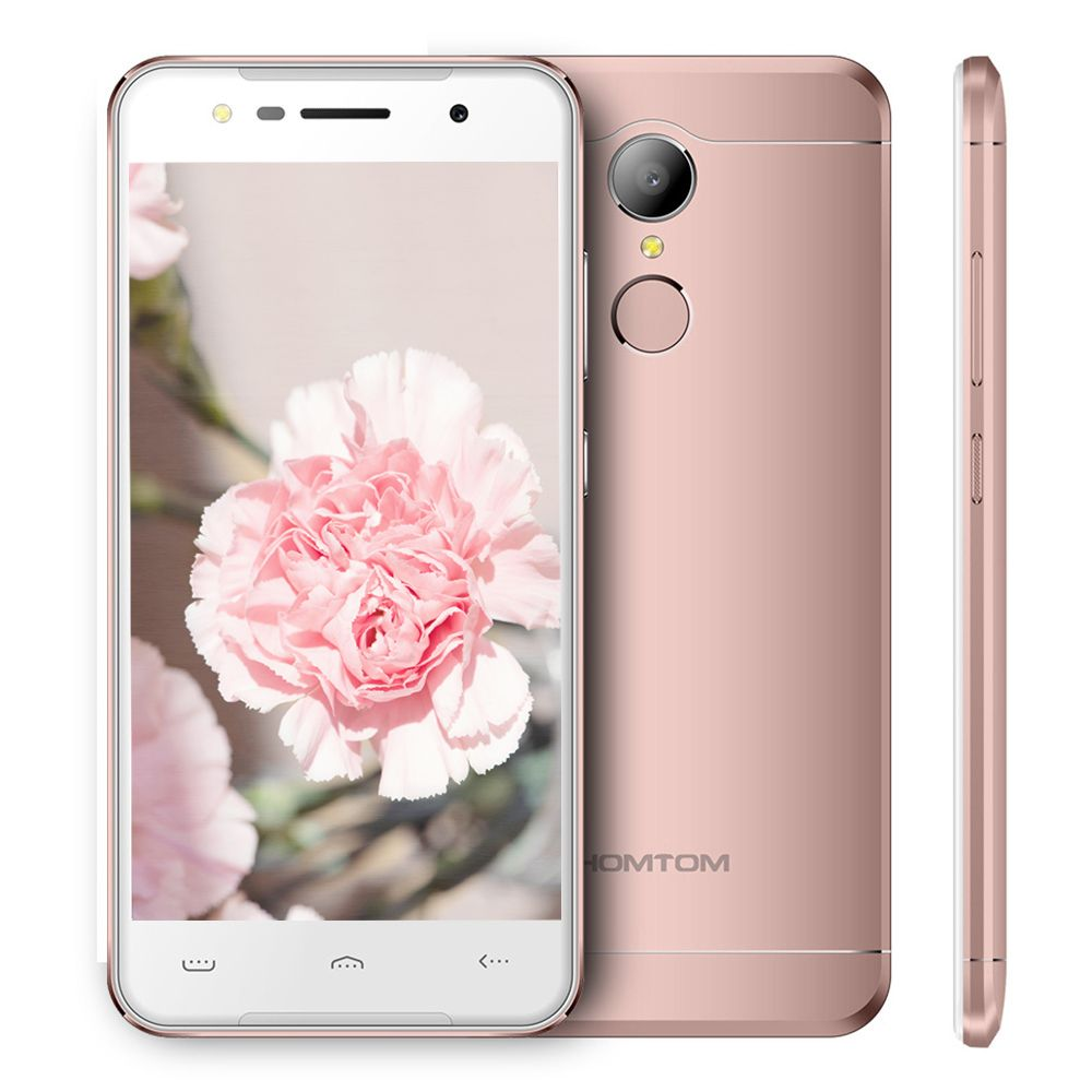 Original HOMTOM HT37 3G Mobile Phone 5.0'' 2.5D Screen MTK6580 Quad Core Android 6.0 1.3GHz 2GB+16GB 13.0MP Back Cam Smartphones