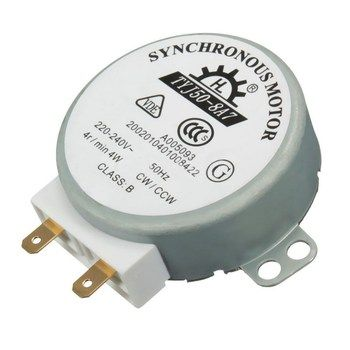 1 PC AC 220 V-240 V 50Hz CW/CCW Micro-ondes Platine Turn Table Synchrone Moteur TYJ50-8A7 D Arbre 4 RPM P0.05