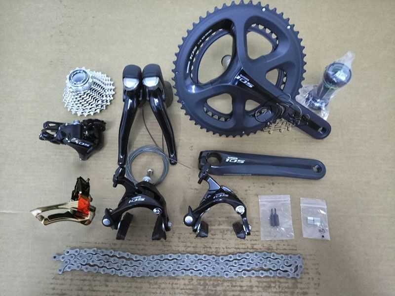 Shimano 105 5800 2x11S Speed Road Bike Groupset 50-34T 53-39T 170mm 172.5mm Bicycle Kit