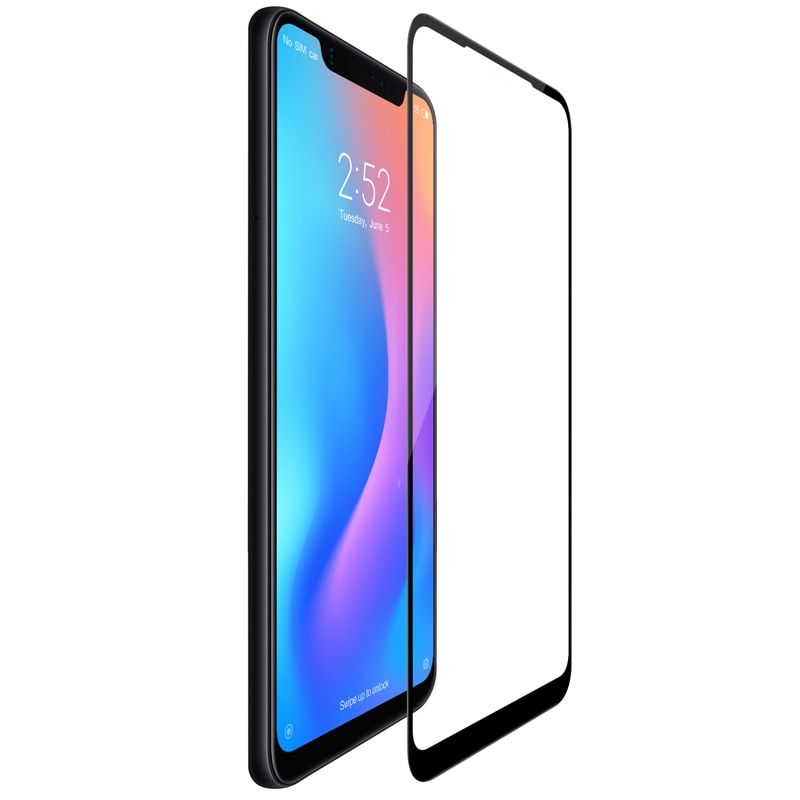 For xiaomi mi 8 glass screen protector full covered nillkin 3D Max 9H 0.33mm thin for xiaomi mi8 tempered glass curved 6.21 inch