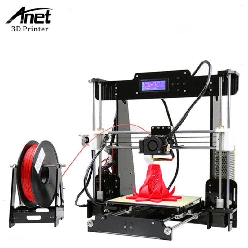 ANET A8 3D imprimante Haute Précision Prusa i3 RepRap 3D Imprimante facile Assembler BRICOLAGE Kit PLA/ABS Filament 8 GB SD Carte Envoyer De moscou