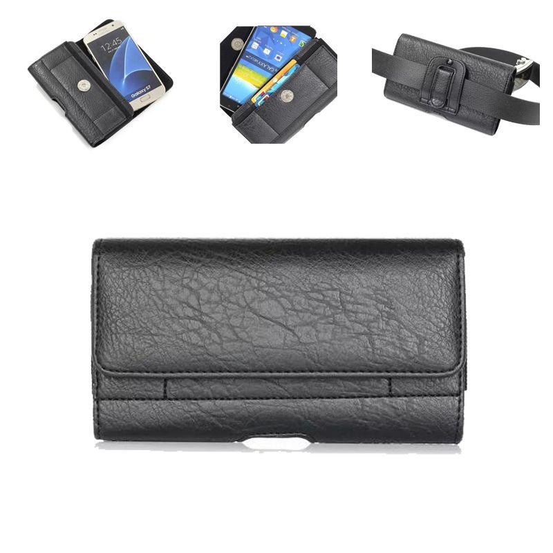 Universal Vintage Ceinture Clip Téléphone Sac pour Xiaomi Redmi 4 Pro 4A 4X Mi6 5S Plus Note 5 5X I7 Cas Taille Sac Étui 4.7-6.3 Pouce