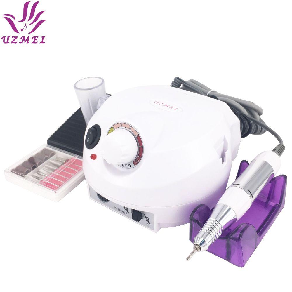Professional White Electric Nail Manicure File Manicure Kit 220V Eu Plug Nail Tools for Nail Gel