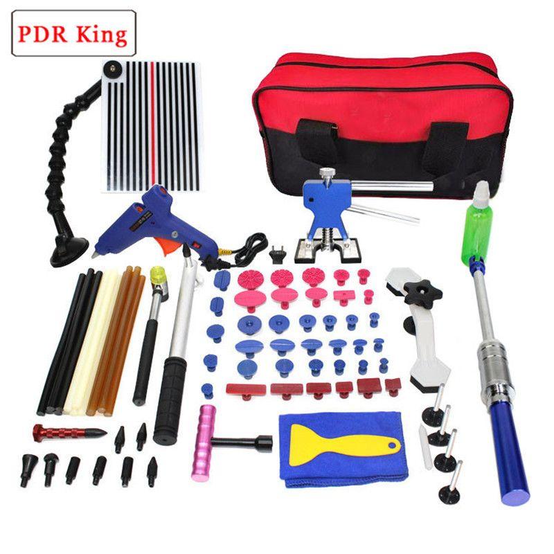 Paintless Dent Repair Kit Car Repair Kit PDR king Tools Dent Lifter Bridge Puller Set Pdr Glue dent lifter kit reflector board