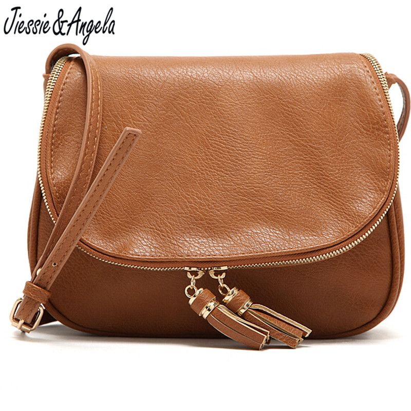 Hot Sale Tassel Women Bag Leather Handbags <font><b>Cross</b></font> Body Shoulder Bags Fashion Messenger Bag Women Handbag Bolsas Femininas
