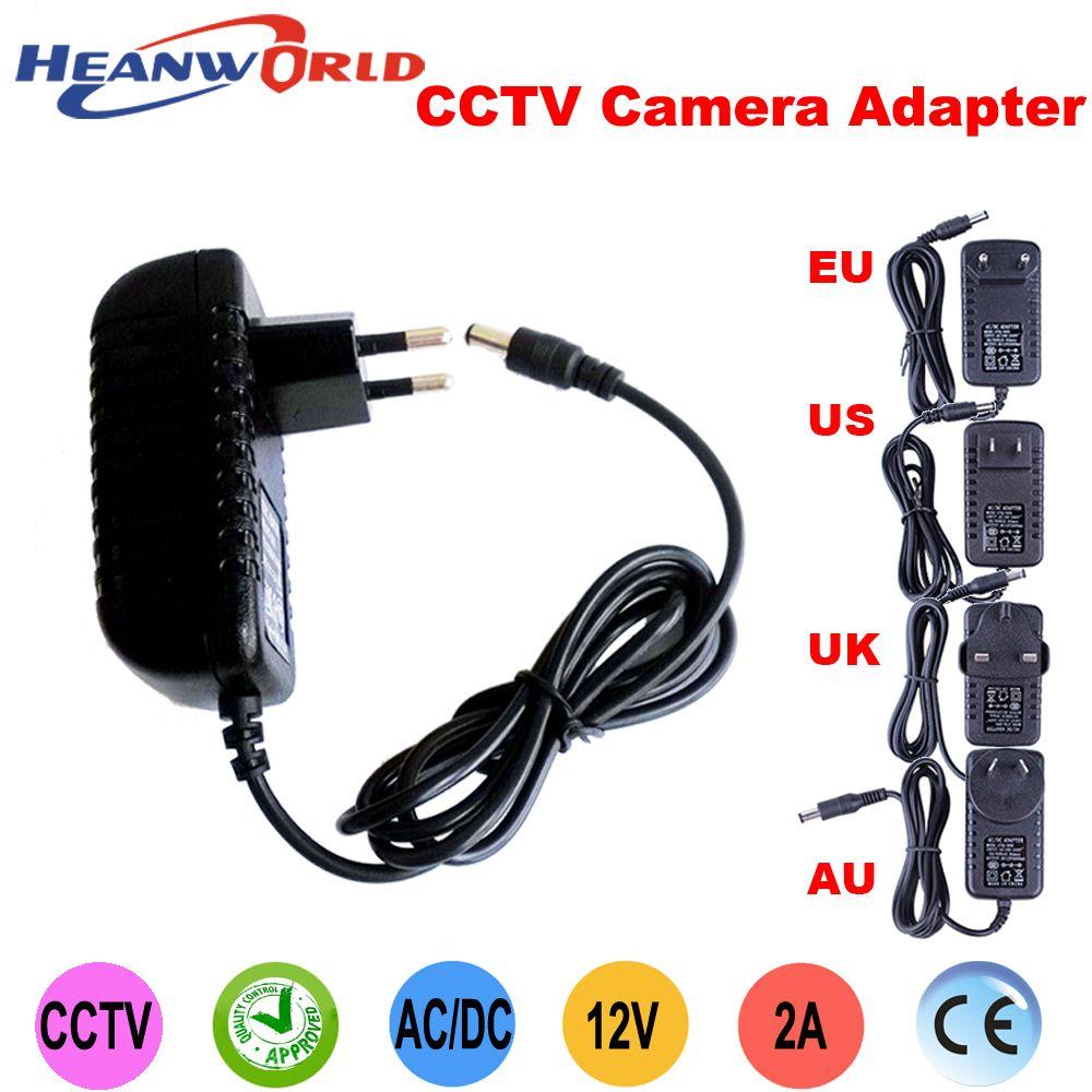 Hot 12V2A good quality Power supply adapter EU/US/UK/AU for CCTV camera IP camera and DVR,AC100-240V to DC12V2A Converter
