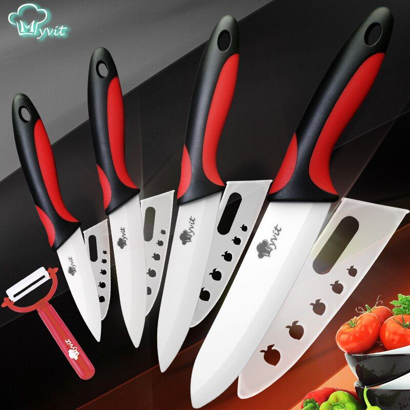 Ceramic Knife Kitchen Knives 3 4 5 6 inch + Peeler White Blade <font><b>Paring</b></font> Fruit Vegetable Chef Utility Knife Cooking Tools set