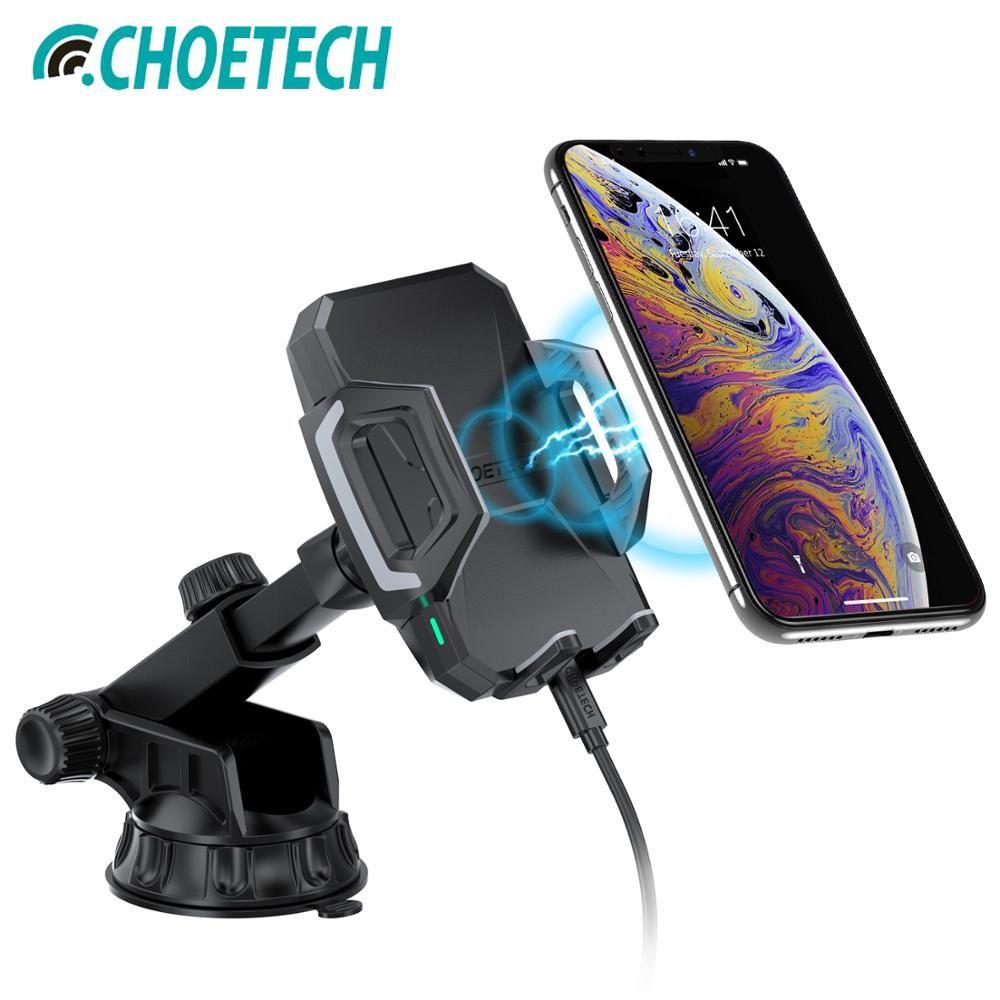 CHOETECH Qi chargeur de voiture sans fil pour Samsung Galaxy S9 10 W chargeur rapide sans fil station d'accueil de voiture chargeur de téléphone support pour iPhone X XS 8