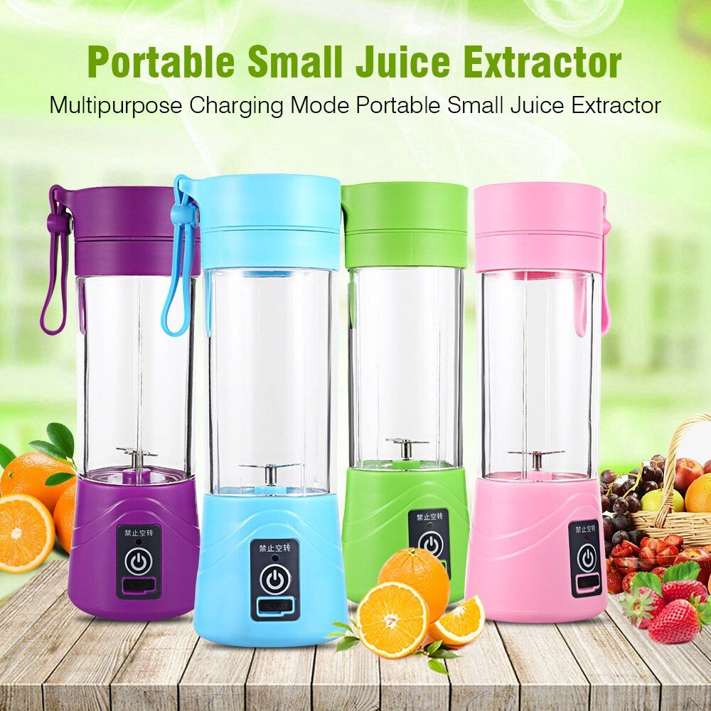 Multipurpose Portable Blender Mixer 380ml Plastic Charging Juicer Extractor Blender Mode USB Egg Whisk/Juicer/Food Cut Mixer