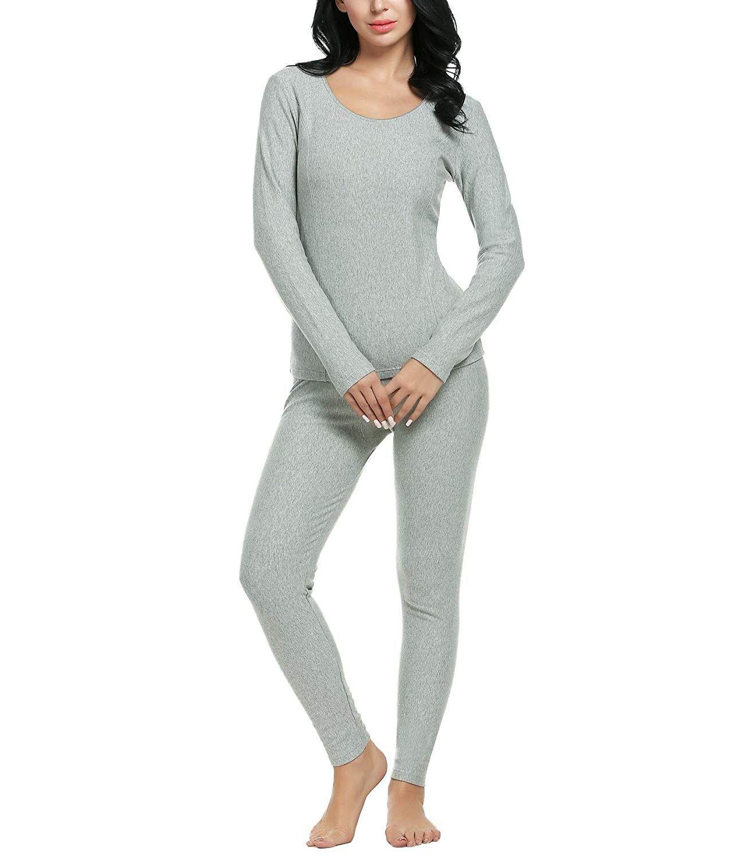 Auferlegt Frauen Thermische Unterwäsche Ultra Weiche Lange Hülse Top und Bottom Pyjama Set (S-3XL) 10 stück