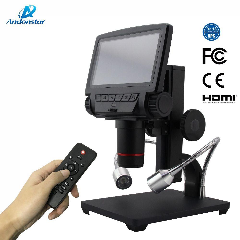 AndonstarNew HDMI/AV microscope long object distance digital USB microscope for mobile phone repair soldering tool bga smt watch