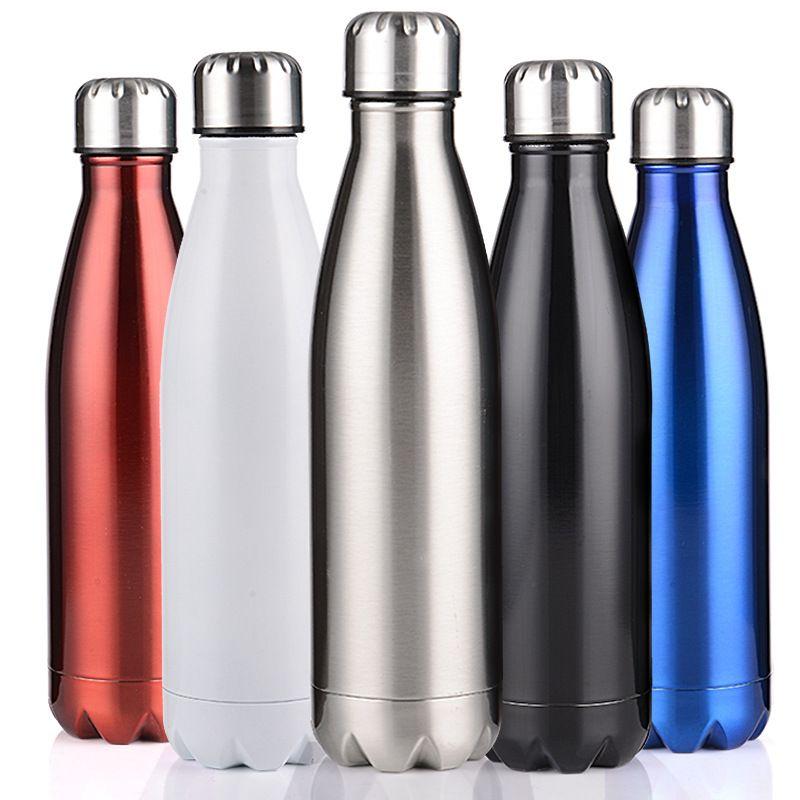 350/500/750/1000ml Double paroi isolé flacon à vide en acier inoxydable bouteille d'eau Cola eau bière Thermos pour bouteille de Sport